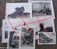 original  Foto Nachlass Frankreich 1940- Strasse nach Stuka Angriff bei Montmort