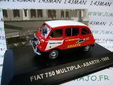 1/43 IXO Altaya Véhicules d'époque ITALIE : FIAT 750 multipla Abarth 1960