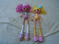 Lalaloopsy Girls Fashion Dolls Lot of 2 Candle Slice of Cake & Fancy Frost & Gla