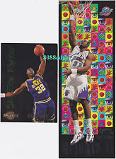 (2)SKYBOX SKYTECH FORCE/THUNDER BRINGIN' IT: KARL MALONE #SF13/4 JAZZ INSERT LOT