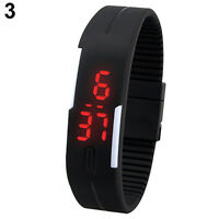 Men Womens New Perfect Silicone Red LED Sport Bracelet Touch Digital Wrist Watch