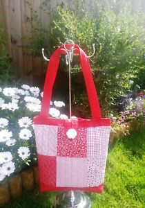 Make your own Quilted Patchwork Tote Bag Kit Red