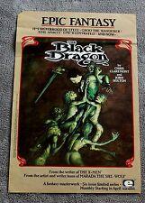 Black Dragon 1985 Epic Marvel JOHN BOLTON Chris Claremont PROMO Poster G