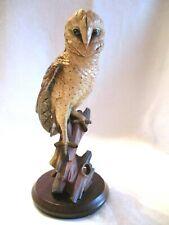Very Rare Vintage Hand Carved Wood & Painted Owl Figurine Signed Anri #187/2500