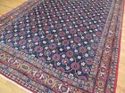 8x10, 7x11 Antique Esfahaan Oriental Area Rug Red Blue Gold/Yellow floral wool