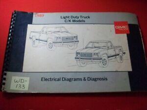 1989 GMC LIGHT DUTY TRUCK - C/K MODELS - ELECTRICAL DIAGRAMS & DIAGNOSIS MANUAL