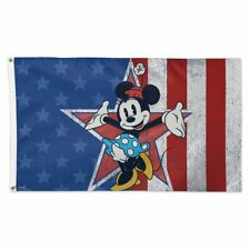 New listing Minnie Mouse Americana Disney 3'X5' Deluxe Flag Wincraft