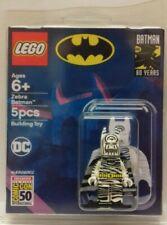 Custom Lego Batman REPLICA SDCC Zebra figure exclusive and clamshell display box