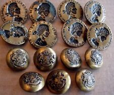 Lot of 15 Antique Vintage Metal Buttons