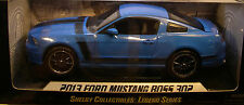 BLUE 2013 FORD MUSTANG BOSS 302 SHELBY 1:18 SCALE DIECAST METAL MODEL CAR