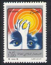 Algeria 1990 Energy/Hand/Eyes/Sun/Conservation/Solar Power/Animation 1v (n39332)
