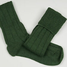 SCOUT SOCKS 4 SPORRAN  YOUTH 12.5-3.5 LOVAT GREEN £9.99