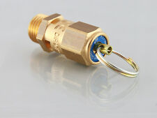 Safety Valve / Blow off Valve 1/4 BSP in brass with pressure release ring
