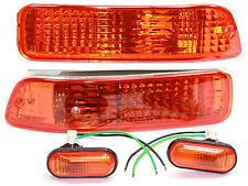 92-93 Acura Integra DA DB Bumper Turn Signals + Side Markers Blinkers JDM Amber