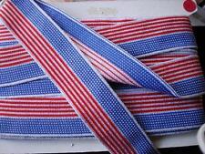 "Metallic Silver Braid Ribbon Trim Sewing  4th. July, 2"" wide"