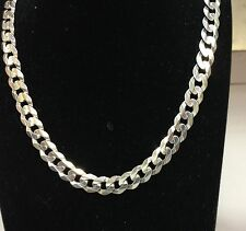 """14k Solid White Gold Comfort Curb 22"""" 6MM 19 GRAMS chain/Necklace  WCRB150"""