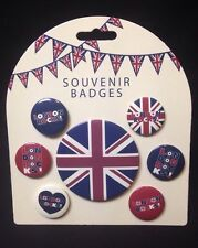 NEW PACK OF 7 X LONDON BUTTON BADGES FLAG NEW AND PACKED LONDON ROCKS UNION JACK