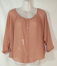 HOT OPTIONS DUSTY BLUSH BLOUSON TOP - SIZE 12