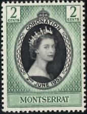 (Ref-13672) Monsterrat 1953 Coronation  2c Black & Deep Green  SG.136 Mint (MNH)