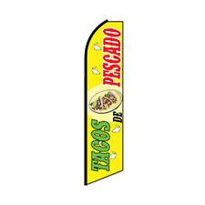Tacos De Pescado Swooper Flag