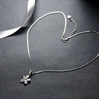 925 Sterling Silver Plumeria Flower Pendant Charm Necklace Gardening Fine