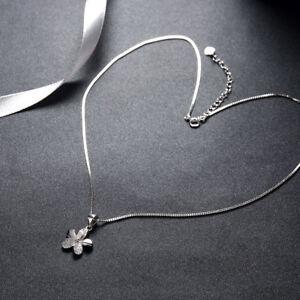 Silver Plumeria Flower Pendant Charm Necklace Gardening Fine