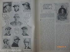 Jockey Club Romance Horseracing Cricket Press Box Journalism Old Article 1907