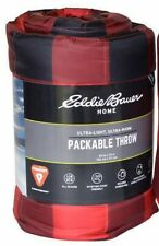 Eddie Bauer Primaloft Alt Down 60 x 70 inch Red & Black Plaid Throw Blanket