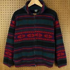 vtg 90s usa made GREAT BEAR DESIGNS fleece jacket MEDIUM vaporwave 90's navajo