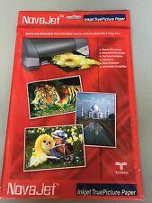 "INKJET NovaJet  20 Pack 8.26"" x 11.69"" Thickness 202G Glossy Photo Paper - White"