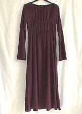 BETTY JACKSON PIECES Purple Empire Line Artsy Boho Long Dress UK 10