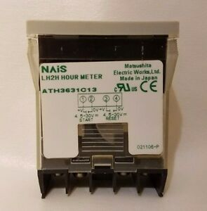 Matsushita Electric Works NAiS LH2H Hour Meter ATH3631C13 Timer