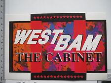 Aufkleber Sticker Westbam - The Cabinett (S1474)