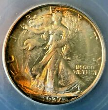 1937 S Walking Liberty Half Dollar - ICG Certified MS64 Toned