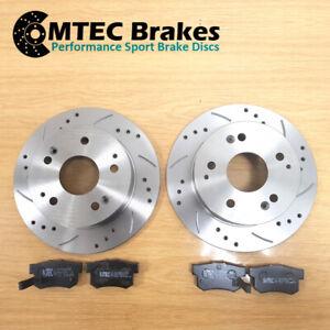 SEAT Leon FR 2.0 Tdi 06/06-12/13Rear Brake Discs & MTEC Premium Brake Pads