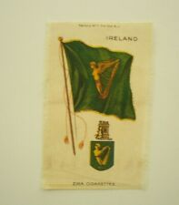"S35 Flag & Arms Series Flag Ireland w/Harp 3 1/4""x 5"" Tobacco Silk C1910/15"