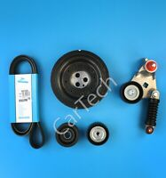 FAN BELT CRANKSHAFT PULLEY TENSIONER KIT FOR JAGUAR X-TYPE 2.0 2.2 DIESEL