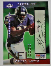 "JAMAL LEWIS 2000 COLLECTOR'S EDGE ""ROOKIE INK"" AUTOGRAPH CARD 222/485 RAVENS"