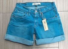 Size 26 M2F Made to Fade Toucan Blue Colored Rolled Mid Thigh Shorts