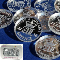Personalised Lucky Sixpence Wedding Favours 50 Silver Bridal Table Decorations