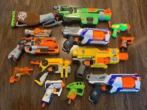 Lot of 11 Hasbro Nerf Guns (Slingfire, Strongarm X2, Zombiestrike & more!)