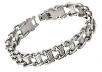"Fred Bennett 8.25"" Polished Stainless Steel Men's Urban Bike Chain Bracelet"