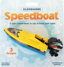 CLOCKWORK SPEEDBOAT BATH TOY KIDS BOY GIRL POWERBOAT FUN -20550