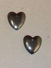 2 Hämatit Anhänger Herz Herzanhänger Hämatitanhänger Blutstein