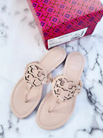 NIB Tory Burch Miller Sandals Flip Flop Sea Shell Pink 7.5
