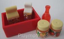 Playmobil DOLLSHOUSE/SHOP/Cafe alimentaire: bouteille, lait, Jus & Pots NEUF
