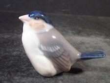 "Royal Copenhagen #1040 Blue And Tan Finch Bird 2"""