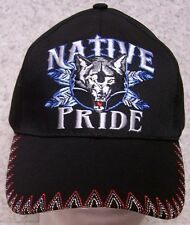 Embroidered Baseball Cap Native Pride Wolf NEW 1 hat size fits all