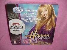 Disney Hannah Montana Miley Cyrus Mattel DVD Game with Real TV Clips New Sealed
