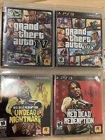 Grand Theft Auto & Red Dead Redemption Rockstar (4)Games PS3 Bundle FAST SHIPPED